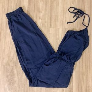 Lulu's Navy Blue Jumpsuit